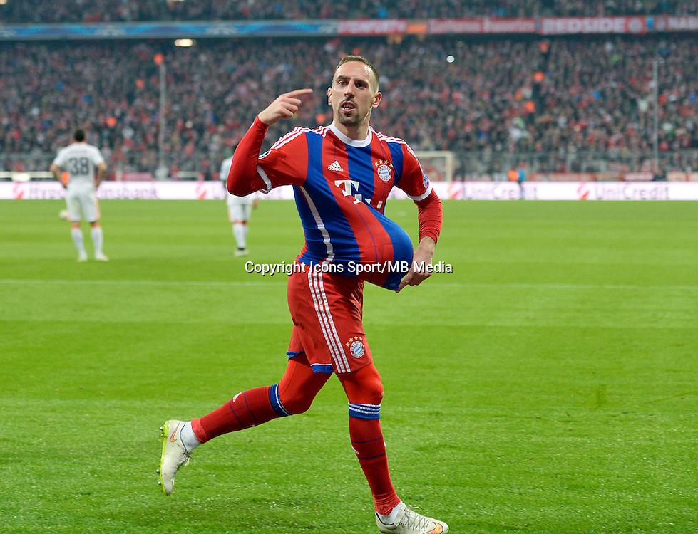 Joie Franck Ribery - 11.03.2015 - Bayern Munich / Chakhtior Donetsk - 1/8Finale retour Champions League<br /> Photo : Mis / Icon Sport
