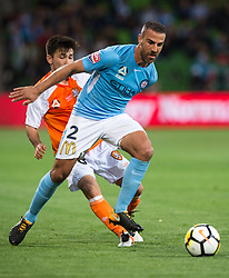 October 6, 2017 - Melbourne, Victoria, Australia - Melbourne, Victoria, Australia - Emmanuel Muscat (#2) of Melbourne City in action during the round 1 match between Melbourne City and Brisbane Roar at AAMI Park in Melbourne, Australia during the 2017/2018 Australian A-League season. (Credit Image: © Theo Karanikos via ZUMA Wire)