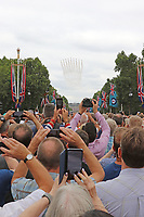 Red Arrows, RAF100 Parade and Flypast, The Mall & Buckingham Palace, London, UK, 10 July 2018, Photo by Richard Goldschmidt, Royal Air Force Centenary parade and flypast of RAF aircraft over London.