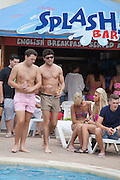 EXCLUSIVE<br /> Tom Pierce from Towie chats to girls while in Magaluf with friend from the show Diags<br /> ©Exclusivepix