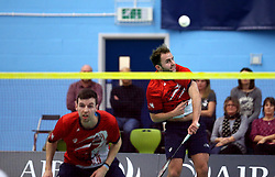 Ben Lane of Bristol Jets and Chris Coles (Capt) of Bristol Jets in action against the Surrey Smashers - Photo mandatory by-line: Robbie Stephenson/JMP - 06/02/2017 - BADMINTON - SGS Wise Arena - Bristol, England - Bristol Jets v Surrey Smashers - AJ Bell National Badminton League