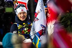 March 9, 2019 - –Stersund, Sweden - 190309 Johannes Thingnes Bö of Norway celebrates after the Men's 10 KM sprint during the IBU World Championships Biathlon on March 9, 2019 in Östersund..Photo: Johan Axelsson / BILDBYRÃ…N / Cop 245 (Credit Image: © Johan Axelsson/Bildbyran via ZUMA Press)