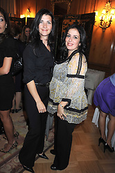 Left to right, ANTOINETTE ALYAN and INAS AL-SAFFAR at a fashion show and lunch in aid of  AMAR International Charitable Foundation held at The Dorchester, Park Lane, London W1 on 9th October 2008.