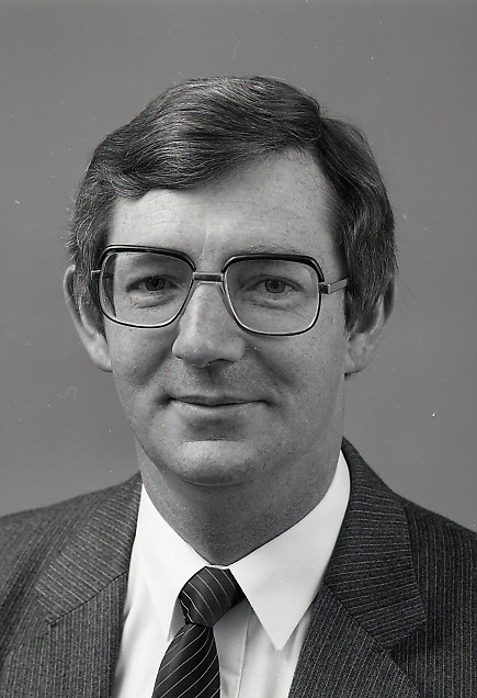 Portrait of Mr. John Dwyer the financial director of An Post,<br /> 16th May 1984