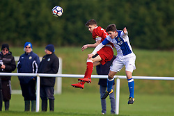 BLACKBURN, ENGLAND - Saturday, January 6, 2018: Liverpool's Adam Lewis and Blackburn Rovers' Jack Vale during an Under-18 FA Premier League match between Blackburn Rovers FC and Liverpool FC at Brockhall Village Training Ground. (Pic by David Rawcliffe/Propaganda)