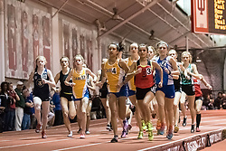 3200 M Run during Hoosier State Relays, on 03, 25, 2017 #17 Lily McAndrews-C #4 Christian Geisler-C