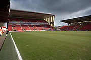 17th March 2018, Pittodrie Stadium, Aberdeen, Scotland; Scottish Premier League football, Aberdeen versus Dundee; General view of Pittodrie, home of Aberdeen FC