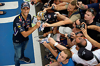 RICCIARDO Daniel (Aus) Red Bull Renault Rb10 ambiance portrait  during the 2014 Formula One World Championship, Italy Grand Prix from September 5th to 7th 2014 in Monza, Italy. Photo Eric Vargiolu / DPPI