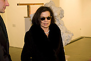 BIANCA JAGGER, Rebecca Warren exhibition opening at the Serpentine Gallery. London.  9 March  2009 *** Local Caption *** -DO NOT ARCHIVE -Copyright Photograph by Dafydd Jones. 248 Clapham Rd. London SW9 0PZ. Tel 0207 820 0771. www.dafjones.com<br /> BIANCA JAGGER, Rebecca Warren exhibition opening at the Serpentine Gallery. London.  9 March  2009
