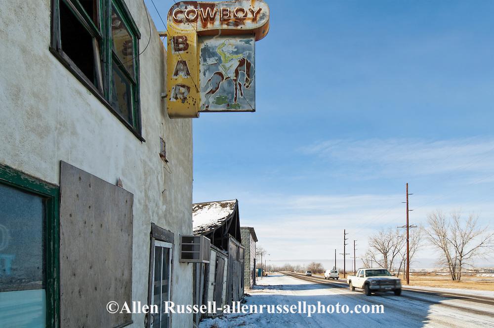 Cowboy bar, Dodson, Montana, highway 2, west of Malta