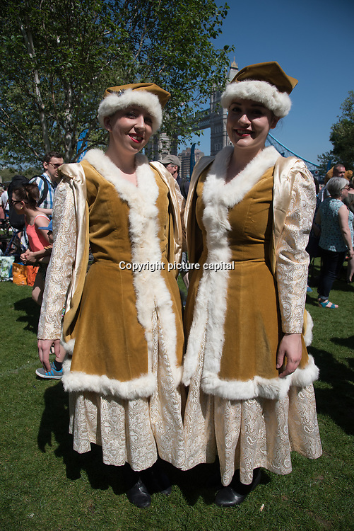"""""""Days Of Poland"""" - Polish festival mass event Polish culture. The 5th festival at the Thames Rive in London at Potters Fields Park on 6 May 2018, London, UK."""