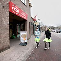 Nederland, Sint Anthonis , 13 februari 2010..Verkiezingsposters ophangen in het Gelderse plaatsje Sint Anthonis, waar een groot deel van de bevolking op het CDA stemt..Op de foto het treurige pleintje met supermarkt C1000..Foto:Jean-Pierre Jans