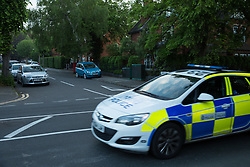 © Licensed to London News Pictures. 25/05/2017. Nuneaton, Warwickshire, UK. The scene in the Earls Road / Manor Court Road area of Nuneaton this morning after searches took place during the night believed to be connected to the Manchester Bombing. Photo credit: Dave Warren/LNP