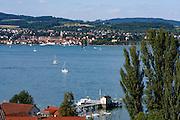 Überlingen und Überlinger See, Bodensee, Baden-Württemberg, Deutschland
