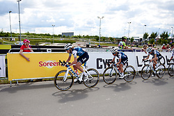 Ellen van Dijk (NED) sets the pace on the final lap at Stage 2 of 2019 OVO Women's Tour, a 62.5 km road race starting and finishing in the Kent Cyclopark in Gravesend, United Kingdom on June 11, 2019. Photo by Sean Robinson/velofocus.com
