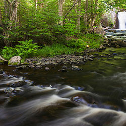 Cold Stream Falls in Maine's Northern Forest. Cold Stream Gorge. Johnson Mountain Township.