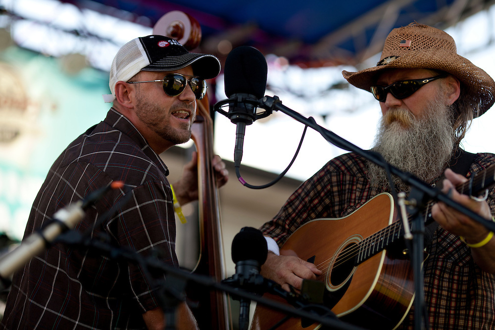 Bluegrass band Mr. Baber's Neighbors performs a set at Camp Euforia on Friday, July 18, 2015. Jerry Hotz has hosted the annual music fest, which features genres from bluegrass to rap, at his farm north of Lone Tree since 2003.