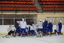 at practice of U-20 team before first practice of Slovenian National Ice Hockey team before EIHC tournament in Ljubljana, on November 5, 2012 in Ledena dvorana Bled, Bled, Slovenia. (Photo by Matic Klansek Velej / Sportida.com)