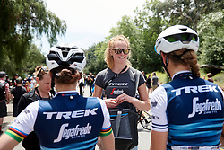 Trek-Segafredo soigneur, Geerike Schreurs at Amgen Tour of California Women's Race empowered with SRAM 2019 - Stage 3, a 126 km road race from Santa Clarita to Pasedena, United States on May 18, 2019. Photo by Sean Robinson/velofocus.com