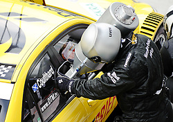 03.06.2011, Red Bull Ring, Spielberg, AUT, DTM Red Bull Ring, im Bild David Coulthard, (GBR, Deutsche Post AMG Mercedes) in der Box // during the DTM training day on the Red Bull Circuit in Spielberg, 2011/06/03, EXPA Pictures © 2011, PhotoCredit: EXPA/ S. Zangrando
