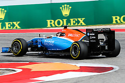 October 23, 2016 - Austin, Texas, U.S - Manor driver Pascal Wehrlein (94) of Germany in action during the race at the Circuit of the Americas race track in Austin,Texas. (Credit Image: © Dan Wozniak via ZUMA Wire)