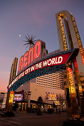 """Reno Arch 2"" - Photography of the Biggest Little City in the World Reno Arch in Downtown Reno, Nevada."