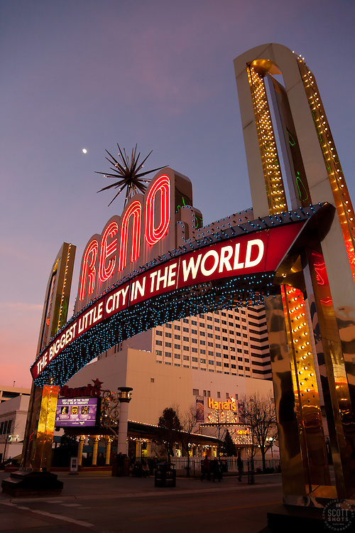 """""""Reno Arch 2"""" - Photography of the Biggest Little City in the World Reno Arch in Downtown Reno, Nevada."""