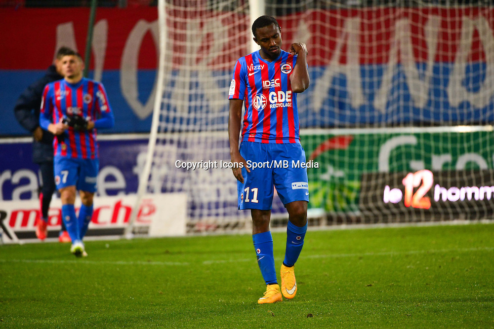 Deception Bangaly Fode KOITA - 06.12.2014 - Caen / Nice - 17eme journee de Ligue 1 -<br />