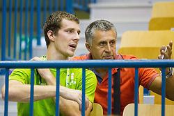 Goran Dragic of Slovenia and Boris Zrinski during friendly match between National teams of Slovenia and Turkey for Eurobasket 2013 on August 4, 2013 in Arena Zlatorog, Celje, Slovenia. (Photo by Vid Ponikvar / Sportida.com)