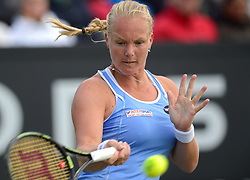 20150609 NED: Tennis Topshelf Open Day 2, Rosmalen<br /> Kiki Bertens wint haar partij tegen de Chinese Shuai Zhang op de tweede dag van het Topshelf