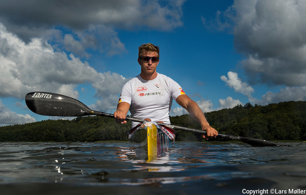DK Caption:<br /> 20140827, Bagsv&aelig;rd,  Danmark:<br /> Rene Holten Poulsen (DEN), Verdensmester i 500 meter enerkajak<br /> Foto: Lars M&oslash;ller<br /> UK Caption:<br /> 20140827, Bagsvaerd,  Denmark:<br /> Rene Holten Poulsen (DEN), World Champion in 500 meter Cayak (K1)<br /> Photo: Lars Moeller
