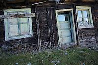 Old wooden building of the old Meteorological Station at Cuntu. Southern Carpathians, Munții Ṭarcu, Caraș-Severin, Romania.