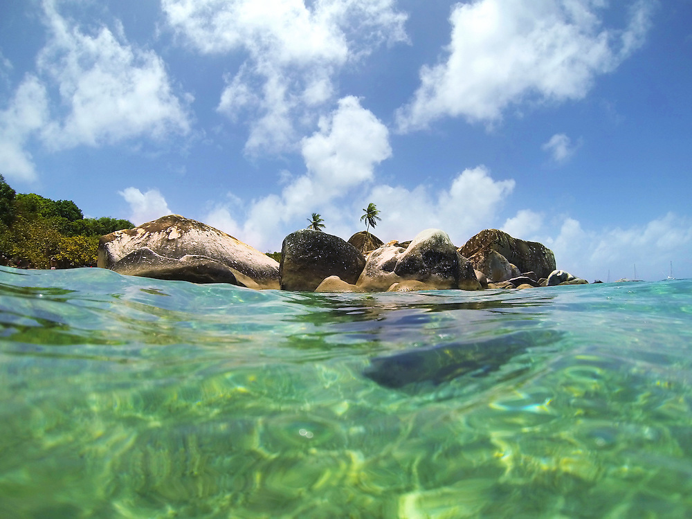 The Baths on the island of Virgin Gorda in British Virgin Islands.