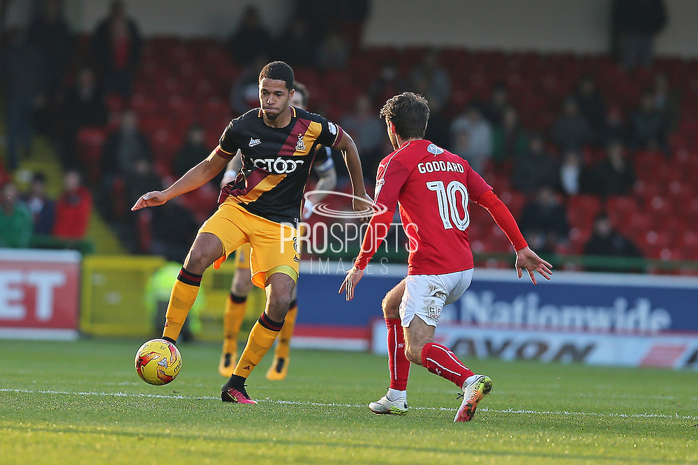 Bradford City Timotee Deing (8) 0-0 first half during the EFL Sky Bet League 1 match between Swindon Town and Bradford City at the County Ground, Swindon, England on 26 November 2016. Photo by Gary Learmonth.