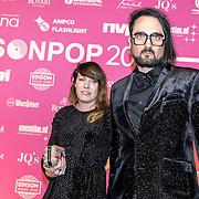NLD/Amsterdam/201702013- Edison Pop Awards 2017, Blaudzun en partner .....