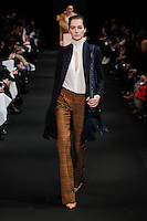 Josephine Le Tutour (The Society) walks the runway wearing Altuzarra Fall 2015 during Mercedes-Benz Fashion Week in New York on February 14, 2015
