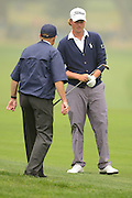 Webb Simpson speaks with a USGA official during the final round of the 112th U.S. Open at The Olympic Club on June 17, 2012 in San Fransisco. .©2012 Scott A. Miller