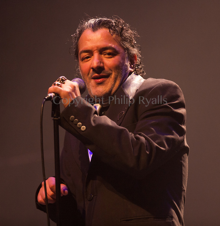 LONDON, UK - JUNE 22: Rachid Taha performs on stage at the Barbican on June 22nd, 2013 in London, United Kingdom. (Photo by Philip Ryalls/Redferns)**Rachid Taha