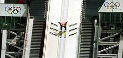 06-02-2014 SCHANSSPRINGEN: OLYMPIC GAMES: SOTSJI<br /> Training Schansspringen op het Russki Gorki Jumping Center / Thomas Morgenstern AUT<br /> ©2014-FotoHoogendoorn.nl<br />  / Sportida