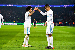 March 6, 2018 - Paris, U.S. - Casemiro (Real Madrid) Marcelo (Real Madrid) during the Champions League match Real Madrid at Paris Saint-Germain on March 6, 2018 in Paris, France. (Photo by JB Autissier/Panoramic/Icon Sportswire) ****NO AGENTS---NORTH AND SOUTH AMERICA SALES ONLY****NO AGENTS---NORTH AND SOUTH AMERICA SALES ONLY* (Credit Image: © Jb Autissier/Icon SMI via ZUMA Press)