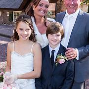 NLD/Laren/20130103 - Huwelijk Laura Ruiters, bruid Laura Ruiters en partner, en bruidskinderen