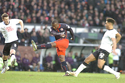 Reading Yakubu Fires in Readings Second and Winning Goal at Derby,  Derby County v Reading, FA Cup 5th Round, The Ipro Stadium, Saturday 14th Febuary 2015