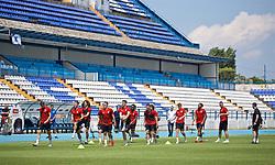 OSIJEK, CROATIA - Friday, June 7, 2019: Wales players during a training session at Stadion Gradski vrt ahead of the UEFA Euro 2020 Qualifying Group E match against Croatia. (Pic by David Rawcliffe/Propaganda)