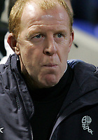 Photo: Paul Thomas/Sportsbeat Images.<br />Bolton Wanderers v Aris Salonica. UEFA Cup. 29/11/2007.<br /><br />Manager Gary Megson of Bolton.