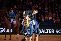 Devos Pieter, BEL, Apart<br /> LONGINES FEI Jumping World Cup <br /> Grand Prix of Stuttgart presented by Mercedes-Benz<br /> German Masters  - Stuttgart 2018<br /> © Hippo Foto - Dirk Caremans<br /> 18/11/2018