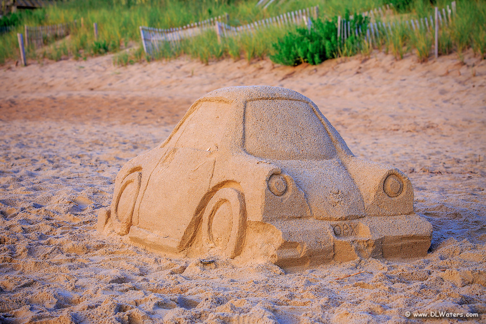 Sand car sculpture on the Outer Banks, NC.