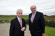 """Joe MacGrath North Tipperary County Manager  and Minister Phil Hogan at the Water Services Training Group 15th Annual Conference entitled """" Water Services in Ireland-Organisational Modernisation and New Challenges"""". Photo:Andrew Downes. Photp issued with compliments, no reproduction fee."""