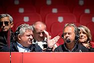 20-08-2017: Voetbal: FC Utrecht v Willem ll: Utrecht<br /> <br /> (L-R) RTV commentatoren Rene van de Berg en Ex voetballer Gert Kruys tijdens het Eredivisie duel tussen FC Utrecht en Willem II op 20 augustus 2017 in stadion Galgenwaard te Utrecht<br /> <br /> Eredivisie - Seizoen 2017 / 2018 (speelronde 2)<br /> <br /> Foto: Gertjan Kooij