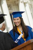 Graduate Receiving Her Diploma