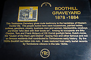 Historic plaque at Boothill Graveyard, Tombstone, Arizona USA